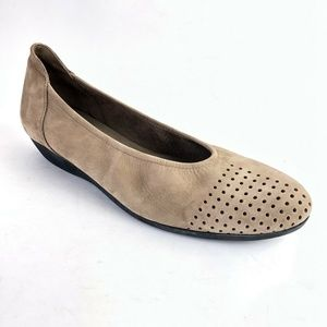 Arche Onara Perforated Flat Beige Suede Leather 40